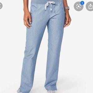 Figs Kade scrub pants indigo light heather blue